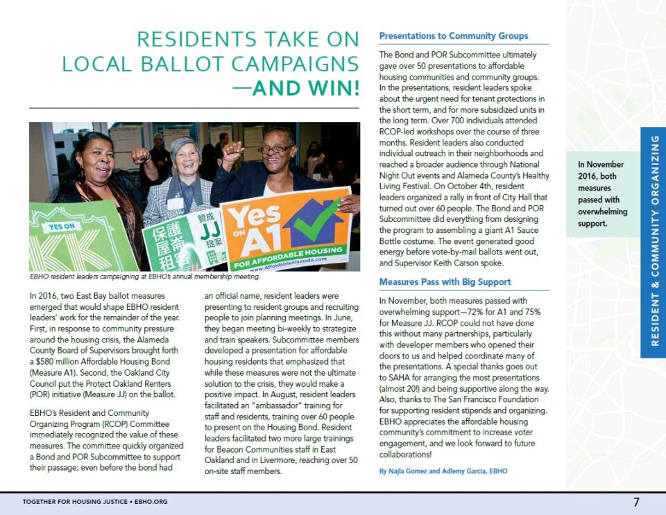 Image of a PDF article- Residents take on local ballot campaigns- and win!