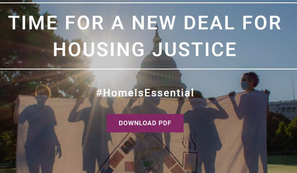 Time for a new deal for housing justice