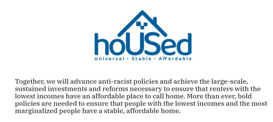 Logo and description of HoUsed campaign