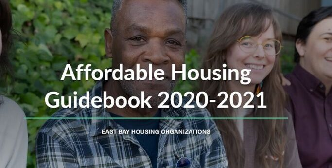 image of face with the words affordable housing guidebook in front